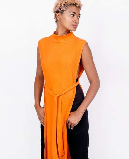 Wolcott Takemoto Wayne Dicky Dress - Tangerine