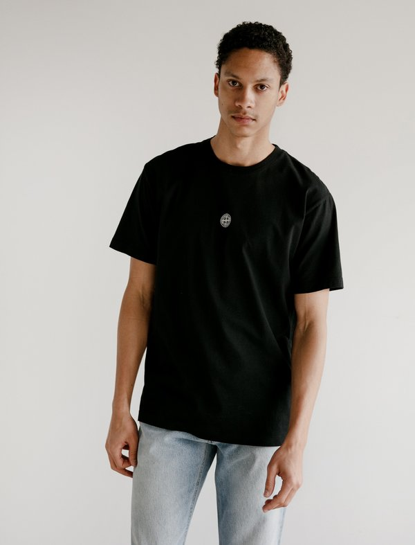 Stone Island Logo T-Shirt - Black