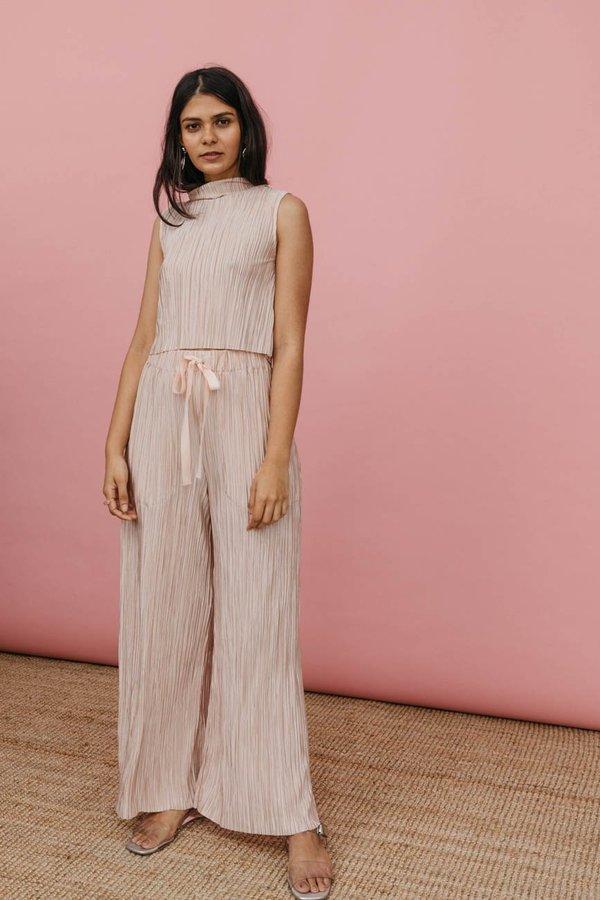 Wolcott : Takemoto Yayoi Pant in Pink Bodre Knit