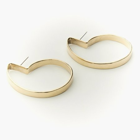 Fay Andrada Taka Medium Earrings - Brass