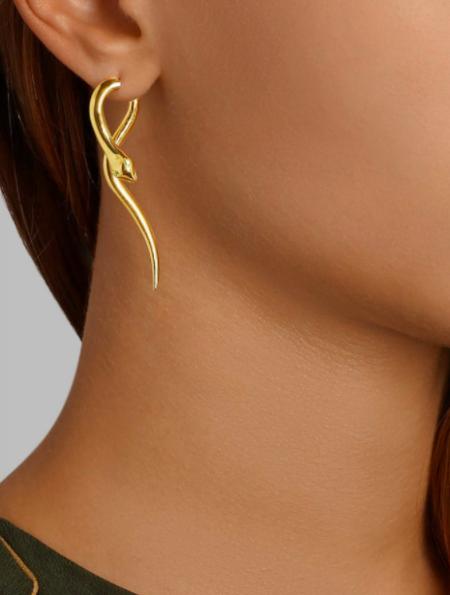 Eye M by Ileana Makri Boa Earrings in Yellow Gold
