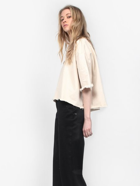 Ashley Rowe Washed Canvas Tee - Cream