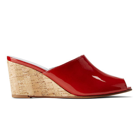 Ops&Ops No15 Wedge Mules - Tomato