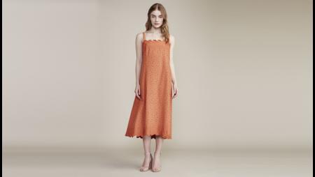 Where Mountains Meet Laney Dress - Coral