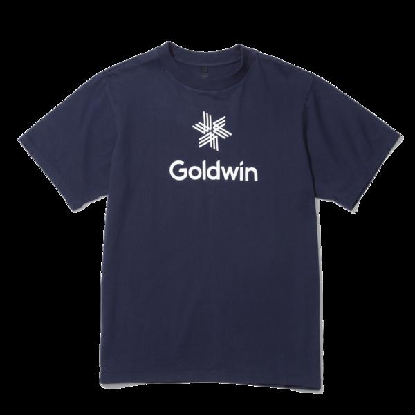 Unisex Goldwin Large Center Logo Crew Neck Print Tee - Dark Navy