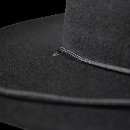 Unisex Westerlind Felt Hat with Cord - Black