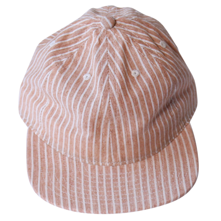 Unisex FairEnds Hickory Stripe Ball Cap - Rust