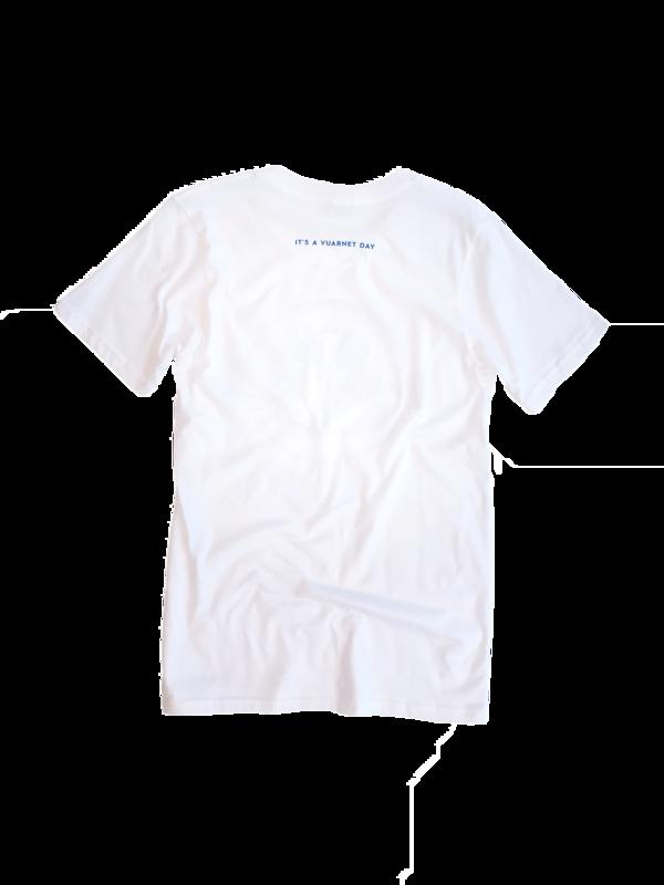 Unisex Vuarnet T-Shirt - Blue / Red