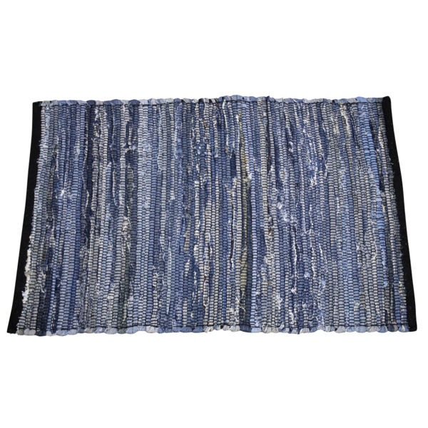 India Flag Denim Rug - Denim Blue