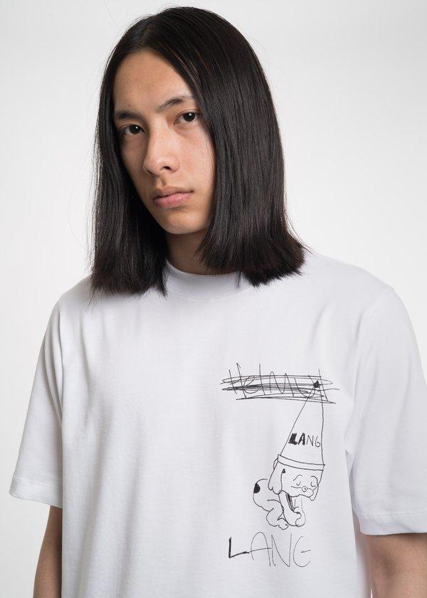 Helmut Lang White Puppy T-Shirt - White