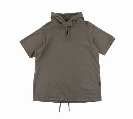 Engineered Garments Short-Sleeve Hoody - Olive French Terry