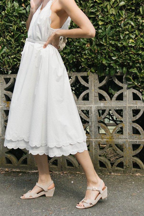 Apiece Apart Mirage Scallop Dress - Cream