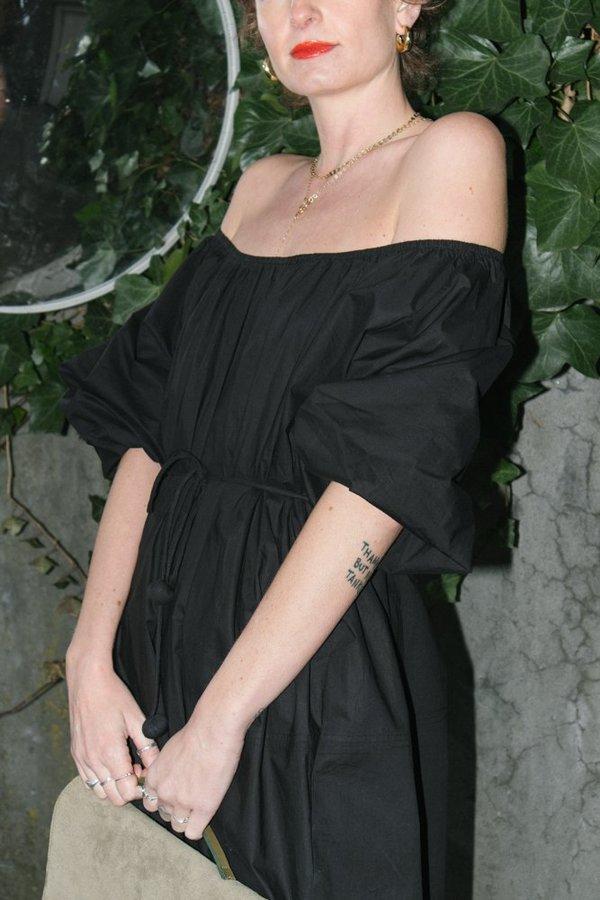 Apiece Apart Olivia Off the Shoulder Dress - Black