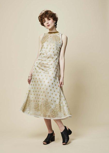 Ekaterina Kukhareva Dina Sleeveless Dress - Champagne/Gold