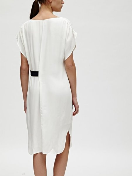 Charli Sheridan Belt Dress - Ivory