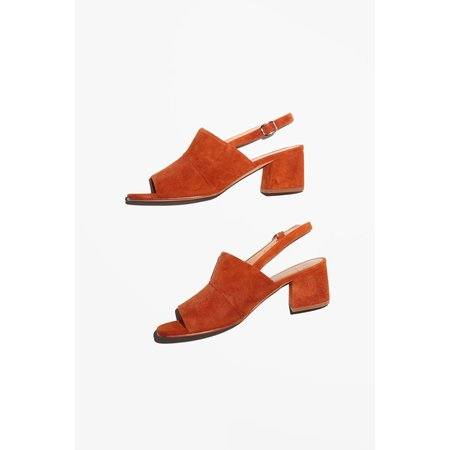 No.6 Layla Covered Heel Sandals - Turmeric