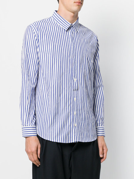 Henrik Vibskov 4Ever Shirt Top - Blue Stripes