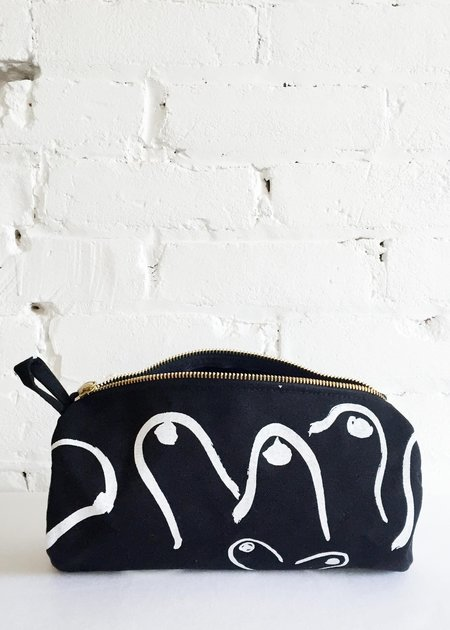 Gravel & Gold Dopp Kit - Boobs/Black