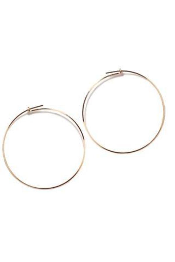 Annika Inez Large Thin Wire Hoop Earrings