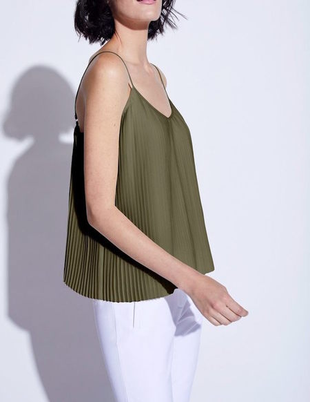 Noel Asmar Alba Pleated Tank