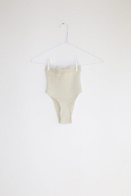 giu giu Nonna Swim Panty - Ivory Glitter