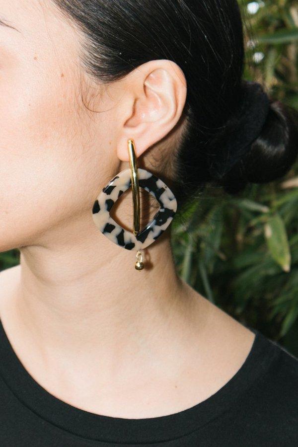 Rachel Comey Realm Earrings - Dalmatian/Gold