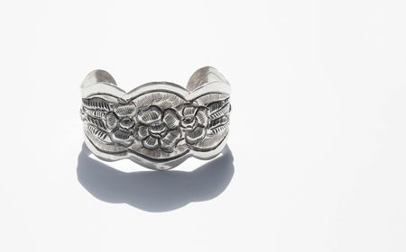 Found By Kindred Black Floral Silver Cuff