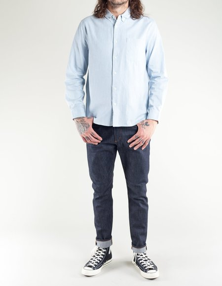 Native North Striped Fifties Shirt - Blue