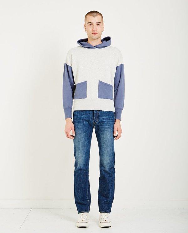 Levi's Vintage Clothing 1950'S HOODIE - GREY MELEE/BLUE