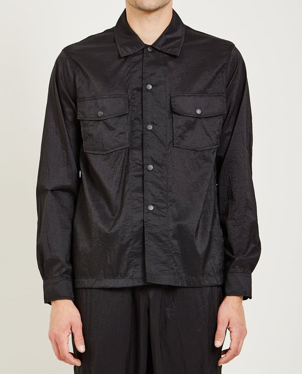 Our Legacy CHAMOIS SHIRT - BLACK PARACHUTE