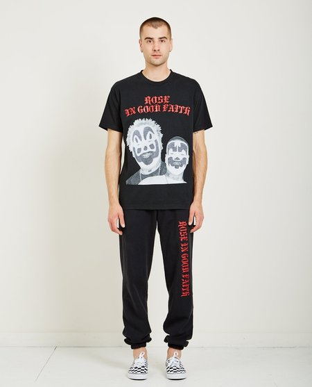 ROSE IN GOOD FAITH ICP BEDAZZLED TEE - BLACK
