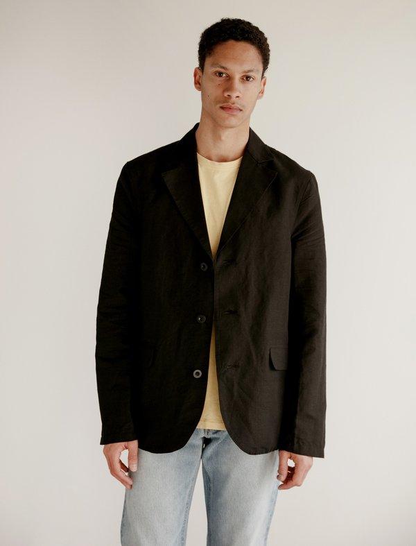 Our Legacy Archive Blazer - Washed Black Cotton/Linen