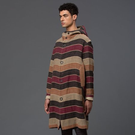 Thaddeus O'Neil Exclusive Striped Hoodie Trench