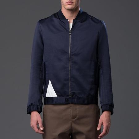 Carlos Campos Grosgrain Triangle Bomber Jacket