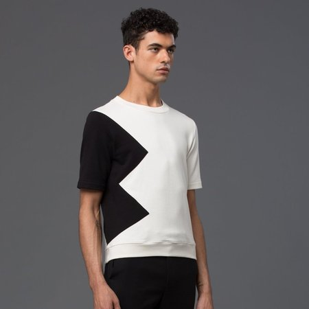 Carlos Campos Short Sleeve Sweatshirt - White/Black