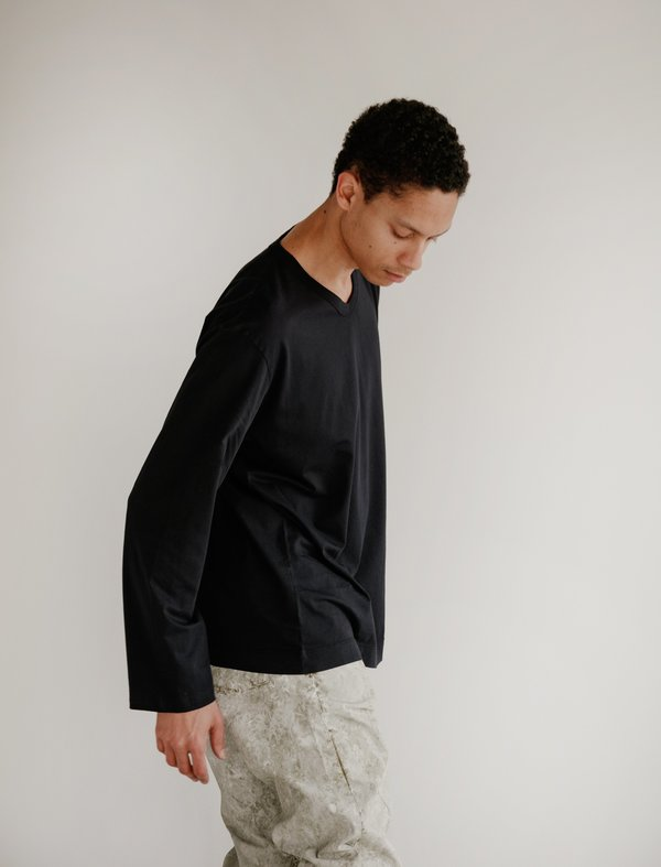 Our Legacy Regular V-Neck Longsleeve - Marine