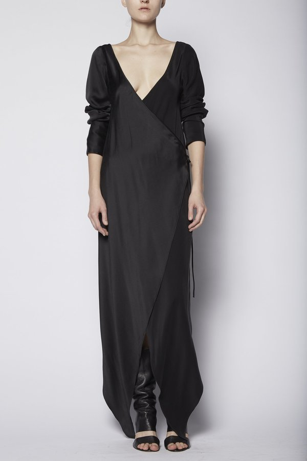 KES Augustine Double Wrap Dress with Sleeves