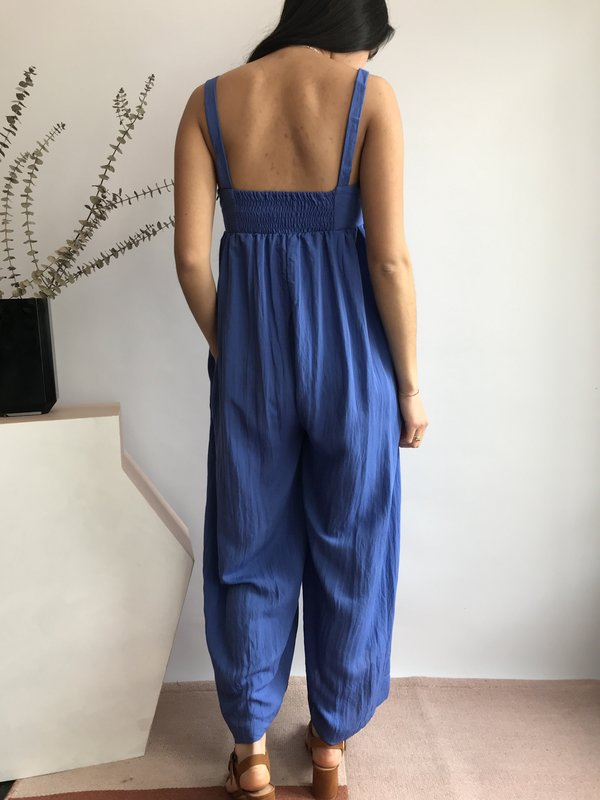 Pepaloves Amanda Long Jumpsuit - Bleu