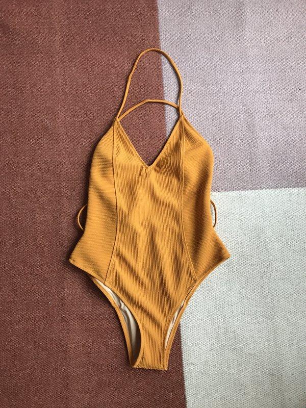Somedays Lovin Burning Skies One Piece Swimsuit - Saffron