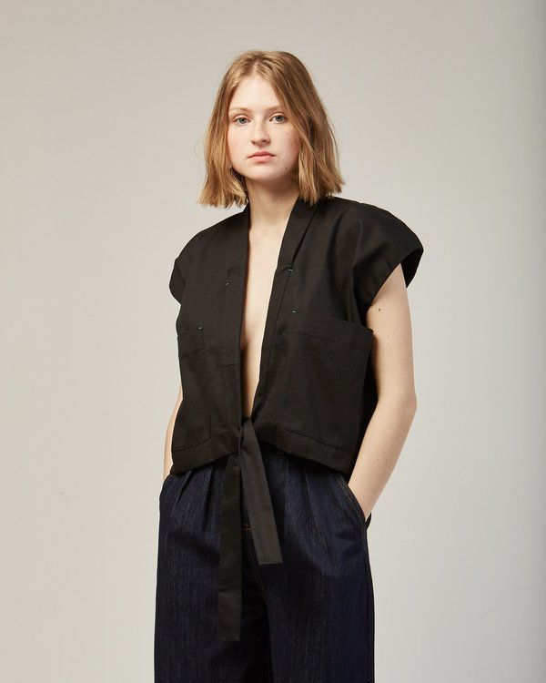 Reality Studio Wheezer Waistcoat in  Black