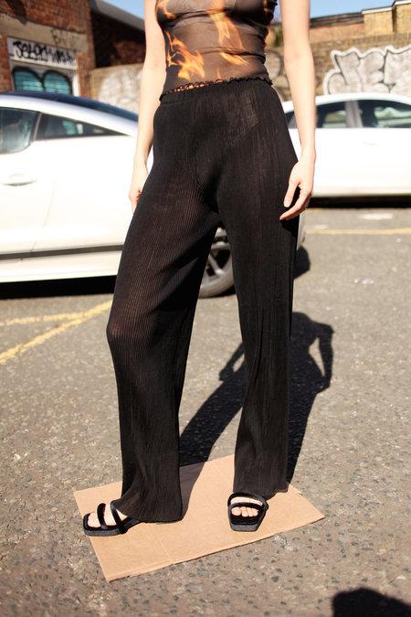 Priscavera Seamless Pleated Trousers - Black