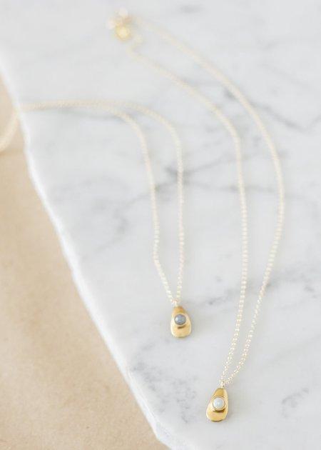 Seaworthy Agua Necklace - Brass