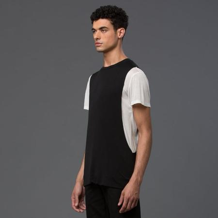 Garciavelez Reversed Tank Tee - Black and White