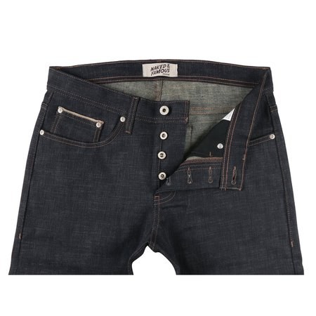 Naked & Famous Slub Stretch Selvedge with Beige Weft Jeans