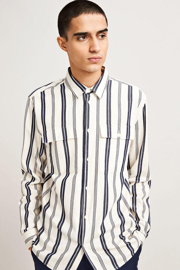 Samsoe & Samsoe Liam Long Sleeves Shirt - Clear Cream