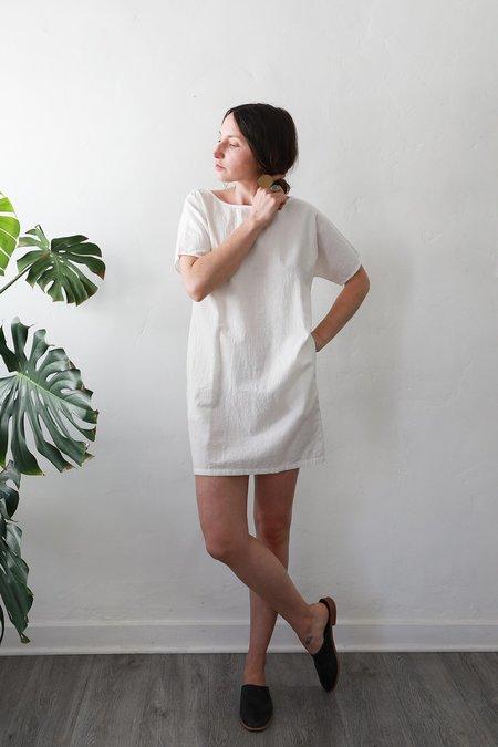 Me & Arrow Sleeve Dress - White Cotton