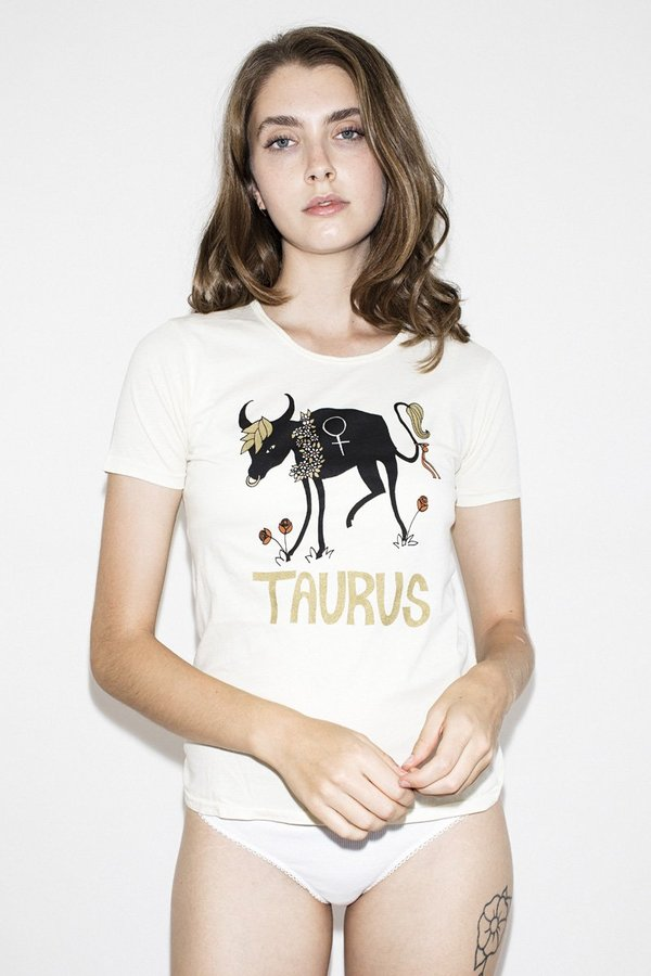 Sugarhigh Lovestoned Taurus Horoscope T-shirt - White