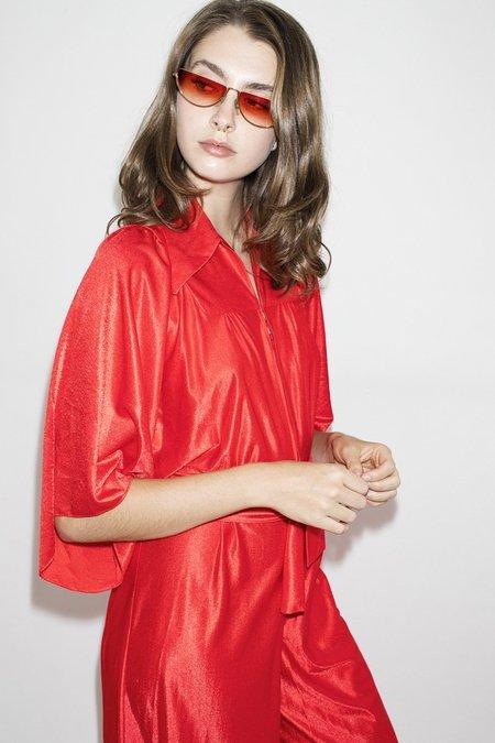 2c4114dbe591 ... TheNinetyNine Vintage Flame Thrower Velvet Jumpsuit - Red