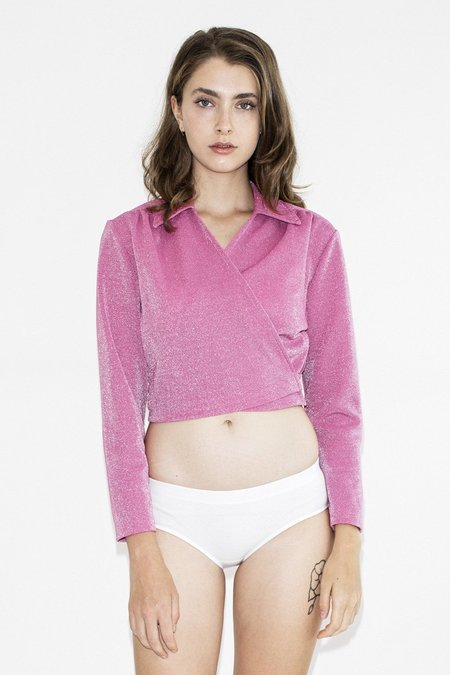 TheNinetyNine Vintage Malibu Stacy Tie-Up Top - Pink