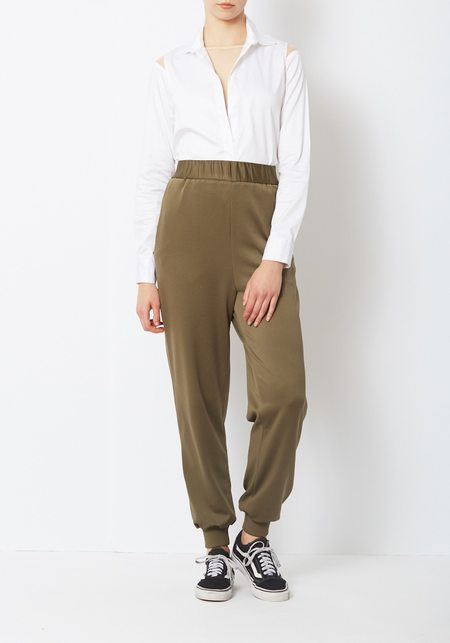 Tibi Knit Jogger - Brown